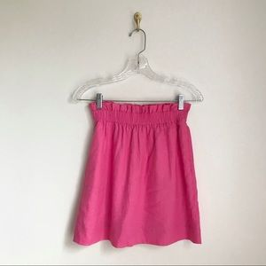 J. Crew City Mini Linen Skirt Bright Pink 00
